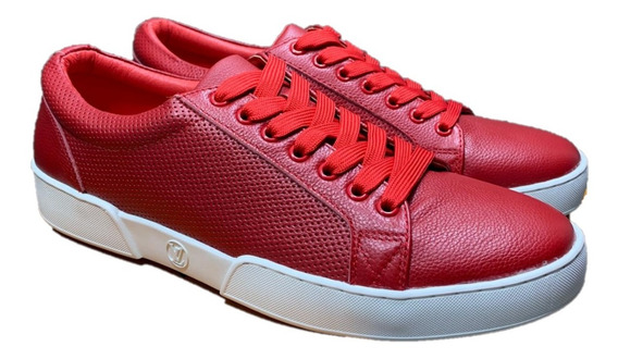 Tenis Louis Vuitton Rojo Caballero, Envío Gratis
