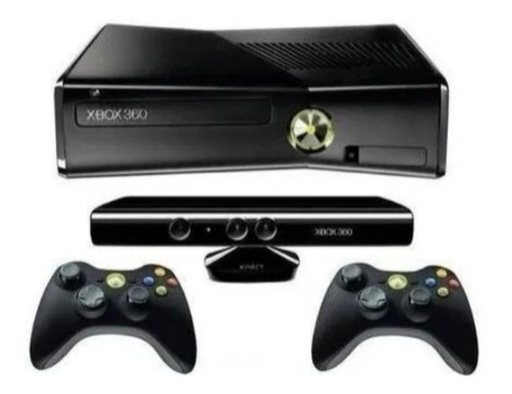 Xbox 360 Slim + 2 Controle+ Kinect Original Barato