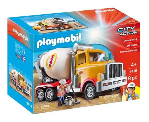Playmobil Camion Cementero De Obras 9116