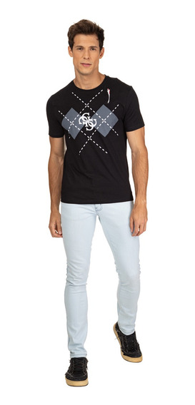 Camiseta 4g Xadrez Guess 39996