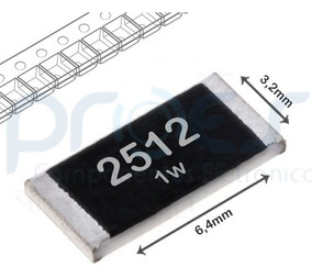 4x Resistor De 2r2 - 2r7ohms 1w 1% Smd 2512 6.4 X 3.2mm