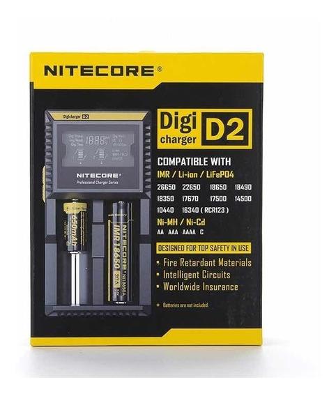 Carregador Nitecore Digital D-2 Para Bateria