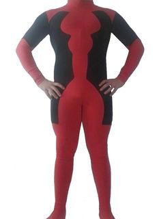 Disfraz Cosplay Deadpool Algodon C Lycra Pesado A Medida