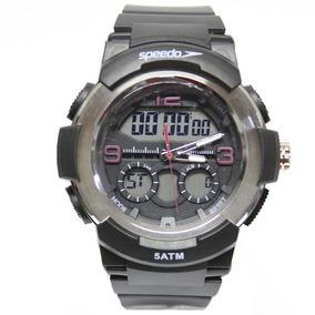 Relógio Masculino Speedo Anagigi 81185g0evnp1 - Preto/prata