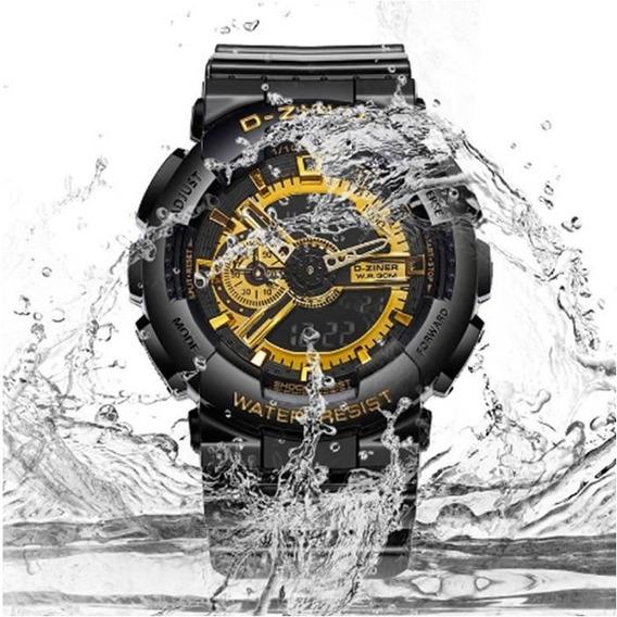 Relógio D-ziner Analógico E Digital Modelo Dz3398 Original