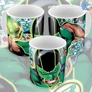 Caneca Lanterna Verde Quadrinhos Hq Dc Comics Modelo 10