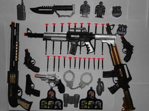 02 Rifle Ak-47 Arminha Brinquedo Lança Dardos Escopeta