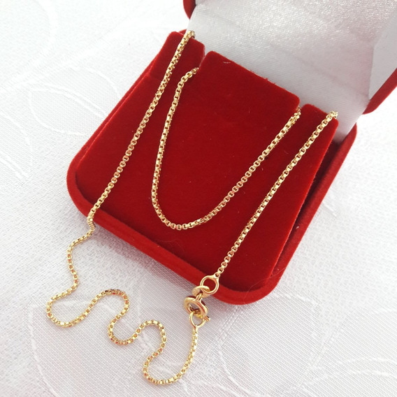Corrente Colar Feminino Banhado Ouro 18k Semi Joia Dourada