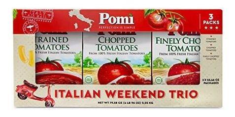 Tomates Italianos Pomì Italian Weekend Trio, 3x26.46oz