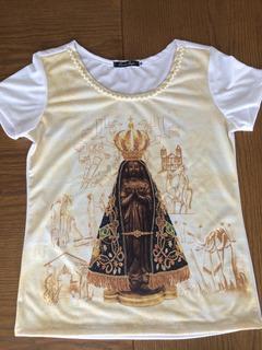 Tshirt Feminina Nossa Senhora De Aparecida Moda Católica
