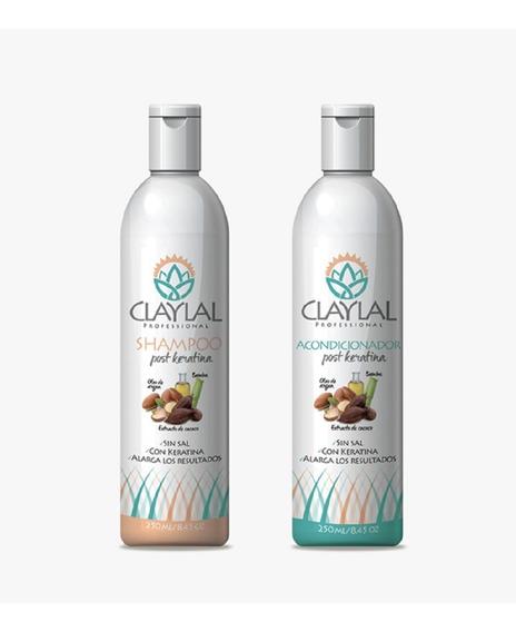 Duo Post Keratina Shampoo Y Acondicionador Claylal