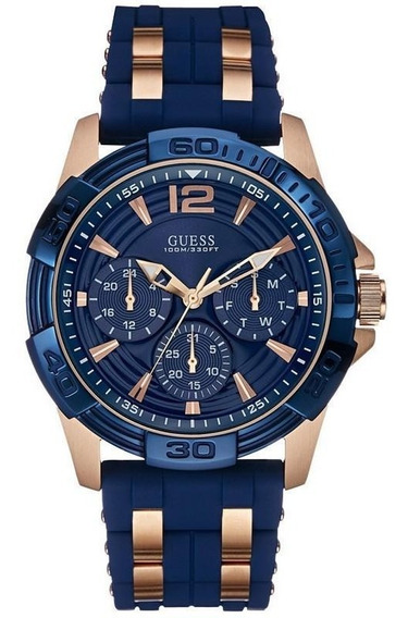 Relógio Guess Masculino Azul/rosê 92560gpgsru1 W0366g4