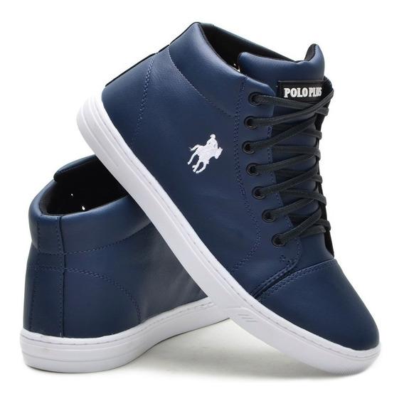 Sapato Sapatênis Tênis Polo Plus Cano Alto Botinha Masculina