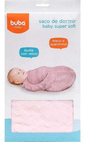 Manta Cobertor Saco Dormir Bêbe Infantil Cor Rosa + Brinde