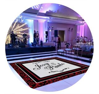 Pista De Dança Para Casamento Preto Com Vinho Ps11-3x3m