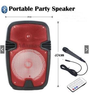 Parlante Portatil + Microfono Karaoke Bluetooth Mp3 Usb Sd