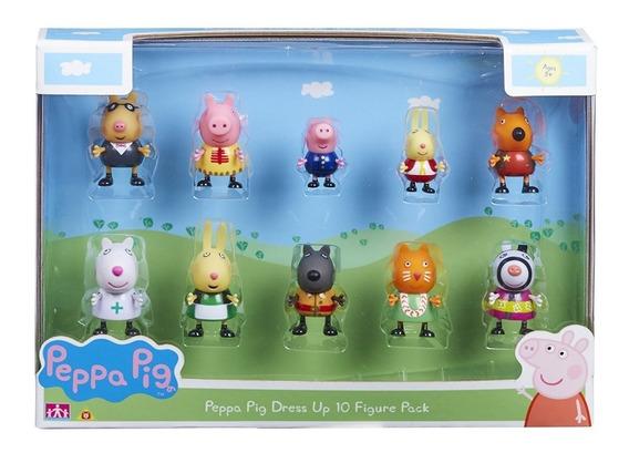 Conjunto Peppa Pig Com 10 Personagens Peppa Fantasias Dtc