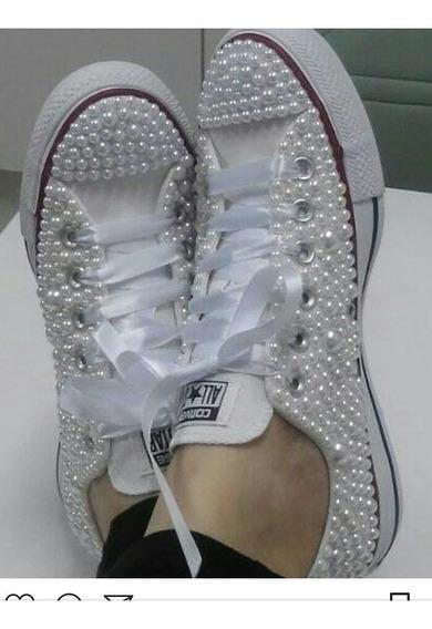 Zapatillas Con Perlas
