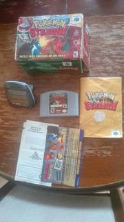 Pokémon Stadium Con Caja , Tranfer , Manuales , Blockbuster