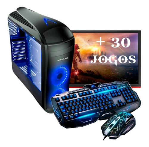 Pc Completo Gamer Monitor 19.5 Led Hdmi Wifi 16gb + 30 Jogos