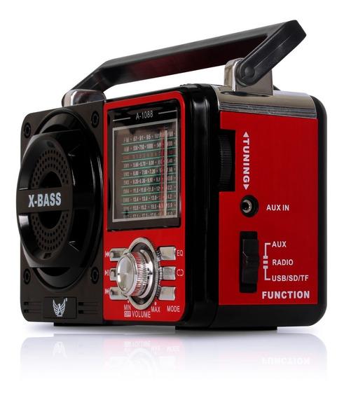Rádio Fm Am Sw Portátil Mini Caixa De Som Mp3 Player Usb Sd