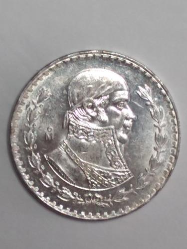 Imagen 1 de 9 de Moneda  1 Peso Morelos  Plata Ley 100 Envio $40 Pesos