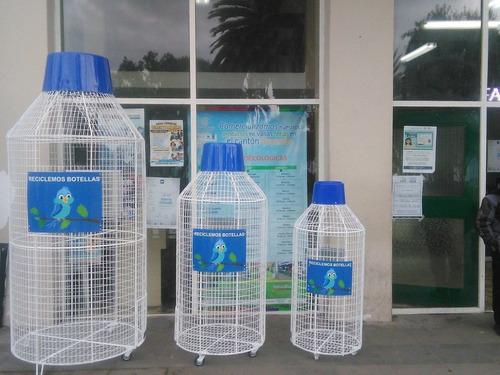 Imagen 1 de 8 de Contenedores De Malla Para Reciclaje De Botellas Plásticas