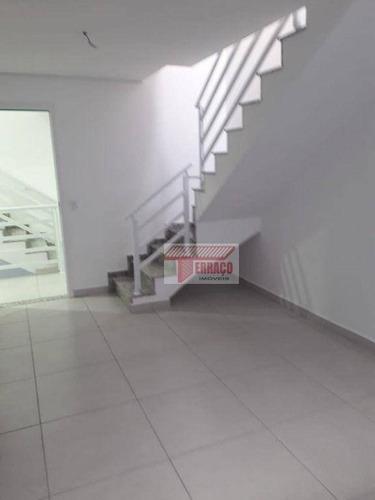 Cobertura Com 2 Dormitórios À Venda, 53 M² Por R$ 378.835,69 - Vila Pires - Santo André/sp - Co0639