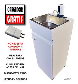 Lavabo Portátiles Lavamanos 100%compacto Con Poceta Multiuso