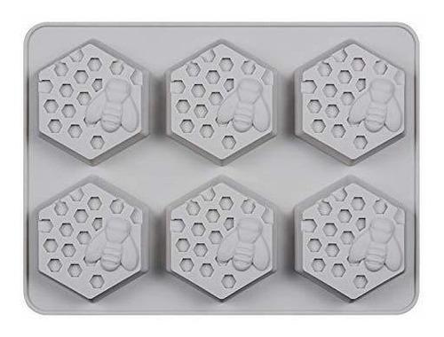 6 Moldes De Silicona Para Jabon 3d De Abeja Y Panal De Miel