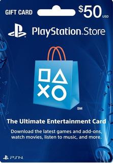 Tarjeta Psn Card Playstation Psn $50 Prepago Ps3 Ps4 Ps Vita