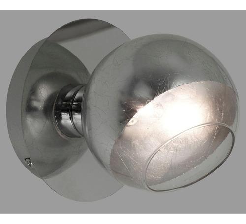 Aplique 1 Luz Plata   Cuotas G9 Cromo Vidrio Baño Moderno