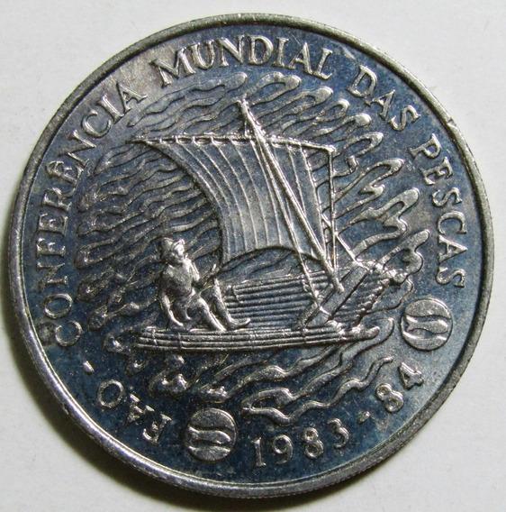 Mozambique Moneda 50 Meticais Niquel 1983 Fao Barco Unc