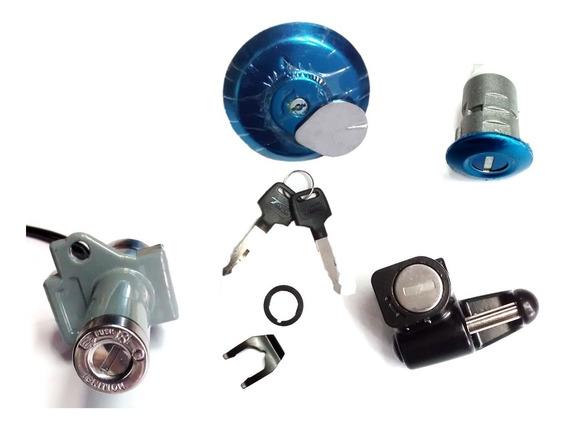 Kit Chave Ignição Travas Cg Titan 150 2004 A 2008 4 Peças