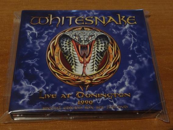 Whitesnake Live At Donington 1990 Box Set 2 Cds + Dvd Italy