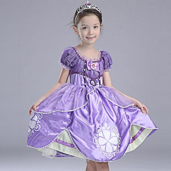 Vestidos Ni As Disfraz Princesa Sofía Excelente Regalo