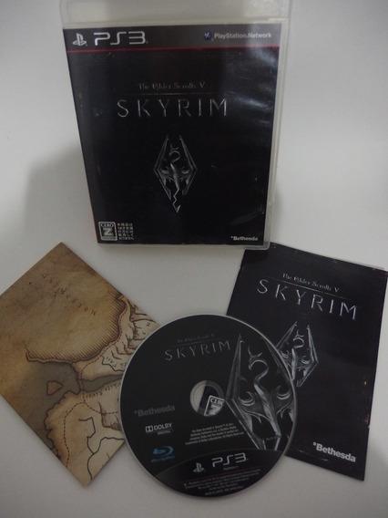 The Elder Scrolls 5 Skyrim Japonês Mídia Fisica