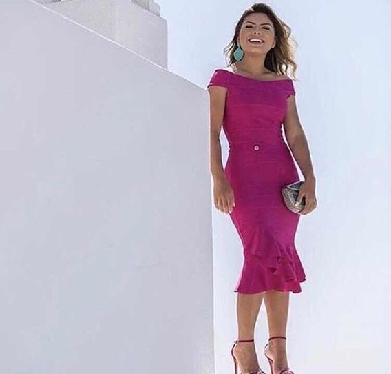 Vestido Tr Bandagem Pink