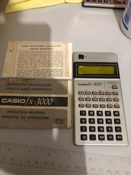 Calculadora Cásio Vintage Fx-3000 Perfeita