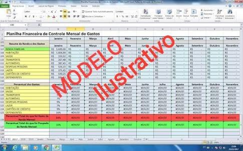 Planilha De Controle Financeiro Pessoal Ou Micro Empresas