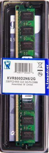 Memória Kingston Ddr2 2gb  800 Ou 667mhz Desktop - Kit C/ 02