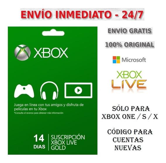 Membresía Xbox Live Gold 14 Días Cuentas Nuevas Envío Gratis