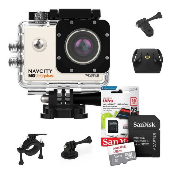 Camera Fotografica Filmadora Full Hd Go Action +sandisk 32gb