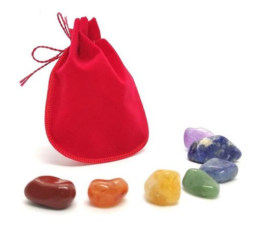 Kit De Cristais As 7 Pedras Dos Chakras 3cm Cada