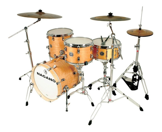 Bateria Nagano Maple Die Cast Jazz Natural Lacquer 18 Pol