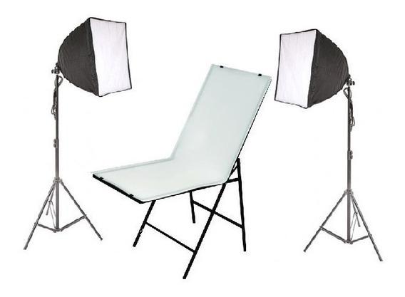 Mesa Fotografica Portátil Softbox 70cm Iluminação Produtos