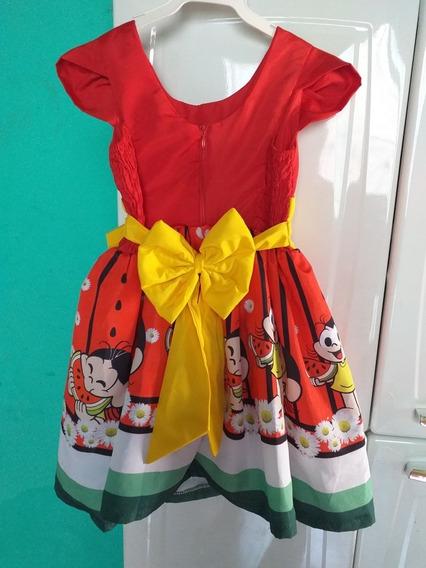Vestido Infantil Tema Magali