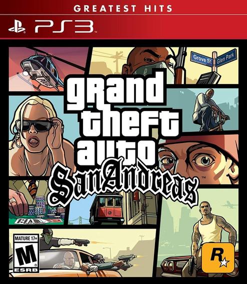 Grand Theft Auto San Andreas Ps3 Mídia Física