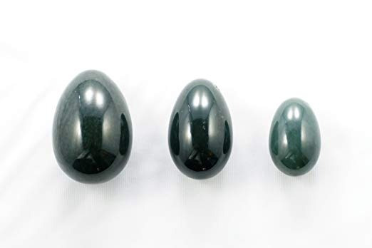 Jade Nefrita Yoni Huevos Para La Mujer Conjunto De Tres (ver
