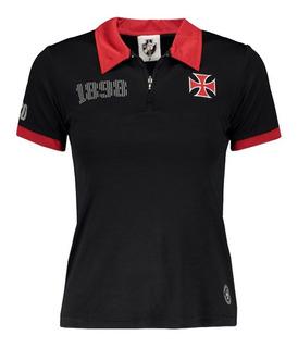 Camisa Vasco Da Gama Baby Look Dry Soft 1898 Oficial + Nf